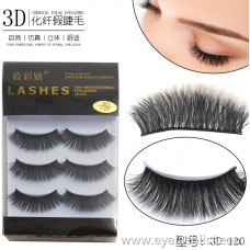 Factory direct sales chemical fiber false eyelashes multi-layer stereo eyelashes 3d hand-woven three pairs of eyelashes wholesale