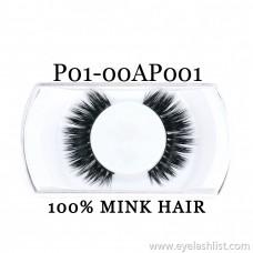 Xin Shi Li 3D False Eyelashes 100% Mink Hair Pure Handmade False Eyelashes P01-00AP001