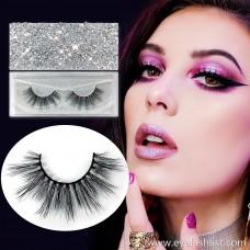 A pair of thick mane false eyelashes corrugated false eyelashes handmade eyelashes wholesale 3D stereotype false eyelashes eyelashes