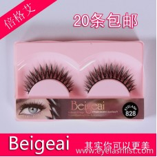 828 Ten pairs of explosion-proof acrylic false eyelashes Hand-made hand-shadowing eyelashes Eyelash wholesale