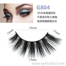 5 pairs of 3d mink hair false eyelashes G804 hairy eyelashes thick natural false eyelashes handmade false eyelashes