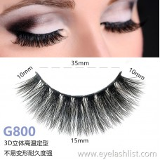 5 pairs of 3d mink hair false eyelashes G800 mane eyelashes thick natural false eyelashes handmade false eyelashes