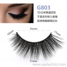 5 pairs of 3d mink hair false eyelashes G803 mane eyelashes thick natural false eyelashes handmade false eyelashes