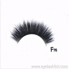 Chemical fiber 3D stereo false eyelashes direct natural cross multi-layer curled false eyelashes F76