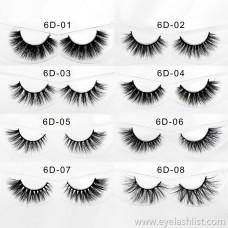 6D multiple eyelashes to choose from 3D mink false eyelashes eyelashes