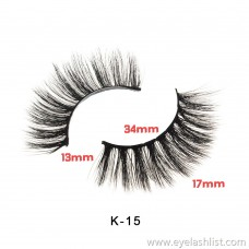 Cost-effective K series natural thick factory direct supply imitation water 貂 false eyelashes 3D chemical fiber false eyelashes lashes