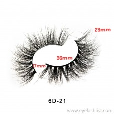 False eyelashes 6D series length display 2nd edition 3D mink false eyelashes pure water 貂 false eyelashes factory direct supply