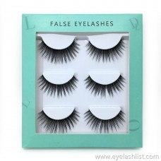 Thick false eyelashes three pairs of 25MM false eyelashes handmade eyelashes wholesale 3D stereotype false eyelashes eyelashes