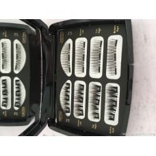 3D double magnet false eyelashes Four pairs of magnet eyelashes No glue no trace pure manual magnetic eyelashes manufacturers wholesale