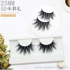 Factory direct 25mm mink hair false eyelashes A pair of eyelashes 5D-17 three-dimensional realistic long and thick