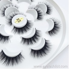 Cross-border hand-made black stalk eyelashes Seven pairs of false eyelashes European and American makeup messy long curly volume