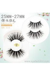5D handmade new cotton stalk false eyelashes 25MM water smashed eyelashes thick multi-layered pair of European makeup