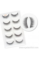 012 Cross-border eyelashes Handmade Five pairs of false eyelashes Natural soft and comfortable eyelashes